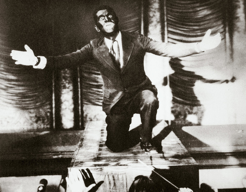 Detail of Al Jolson, American singer, in the final scene from the film 'The Jazz Singer' by Anonymous