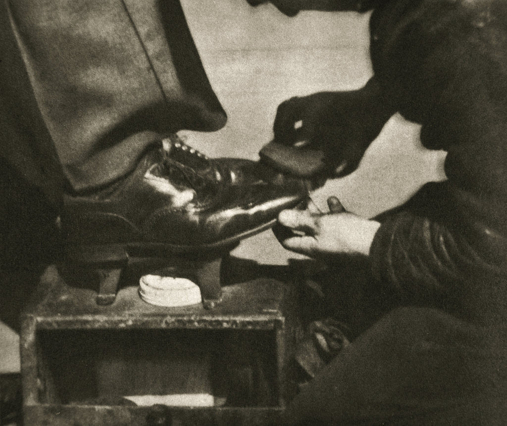 Detail of Shoeshine by Anonymous