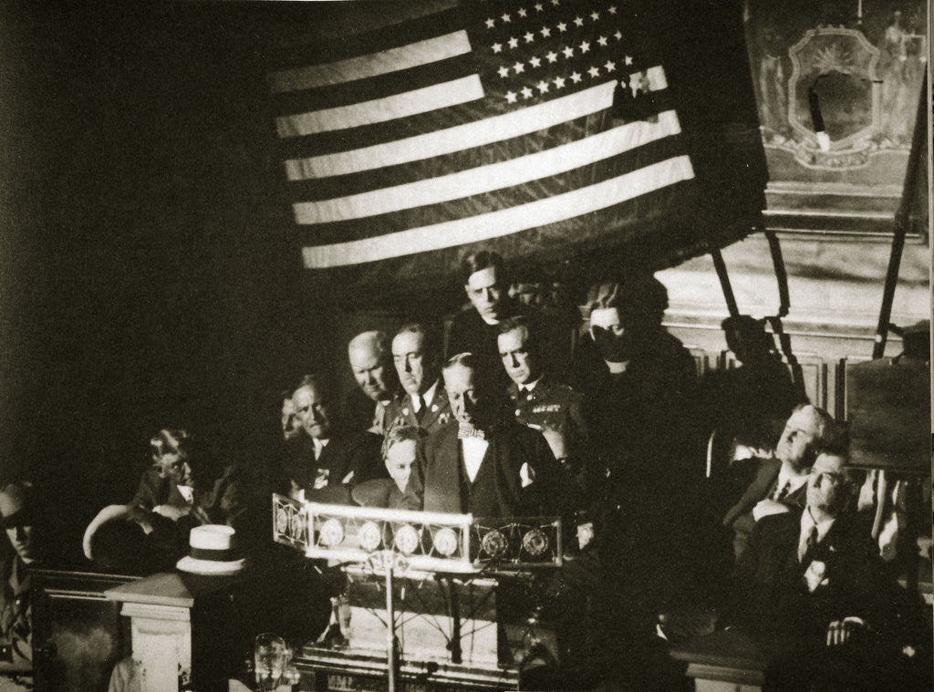 Detail of New York Governor Al Smith accepting the Democratic nomination for the Presidency by Anonymous