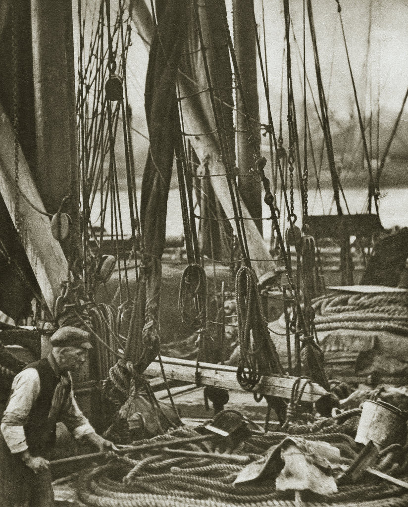 Detail of At the foot of the mast on a Thames Barge by Anonymous