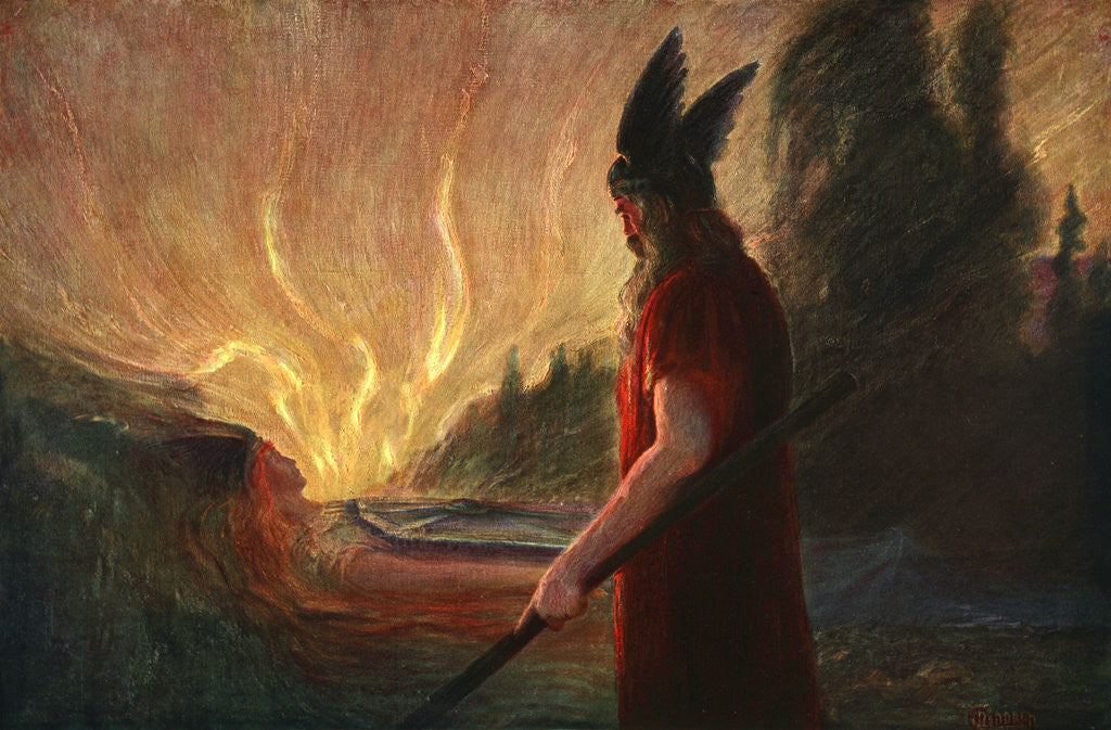 Detail of As the Flames Rise, Wotan Leaves by Anonymous