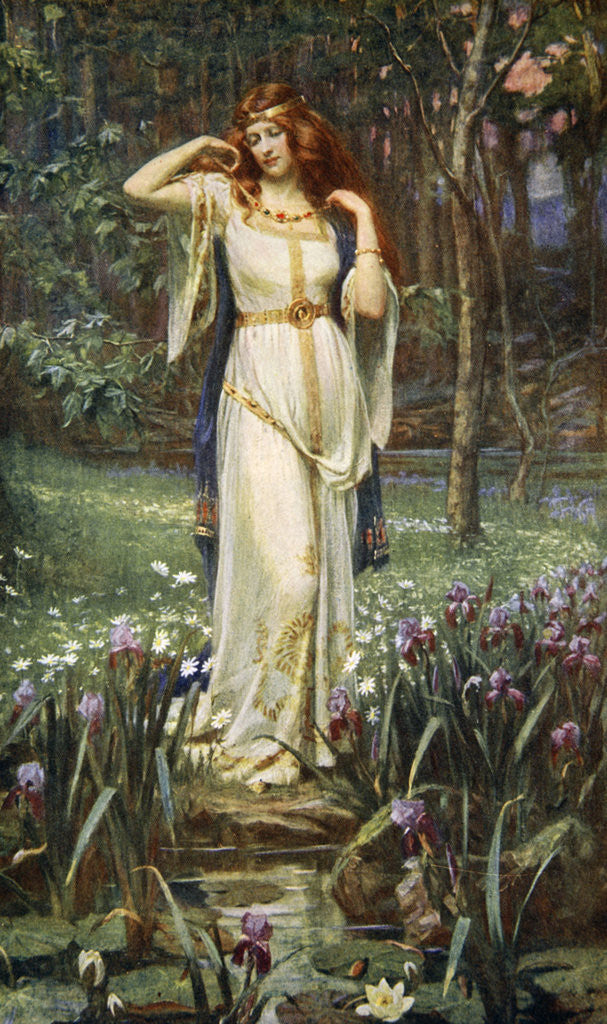 Detail of Freyja and the Necklace by James Doyle Penrose