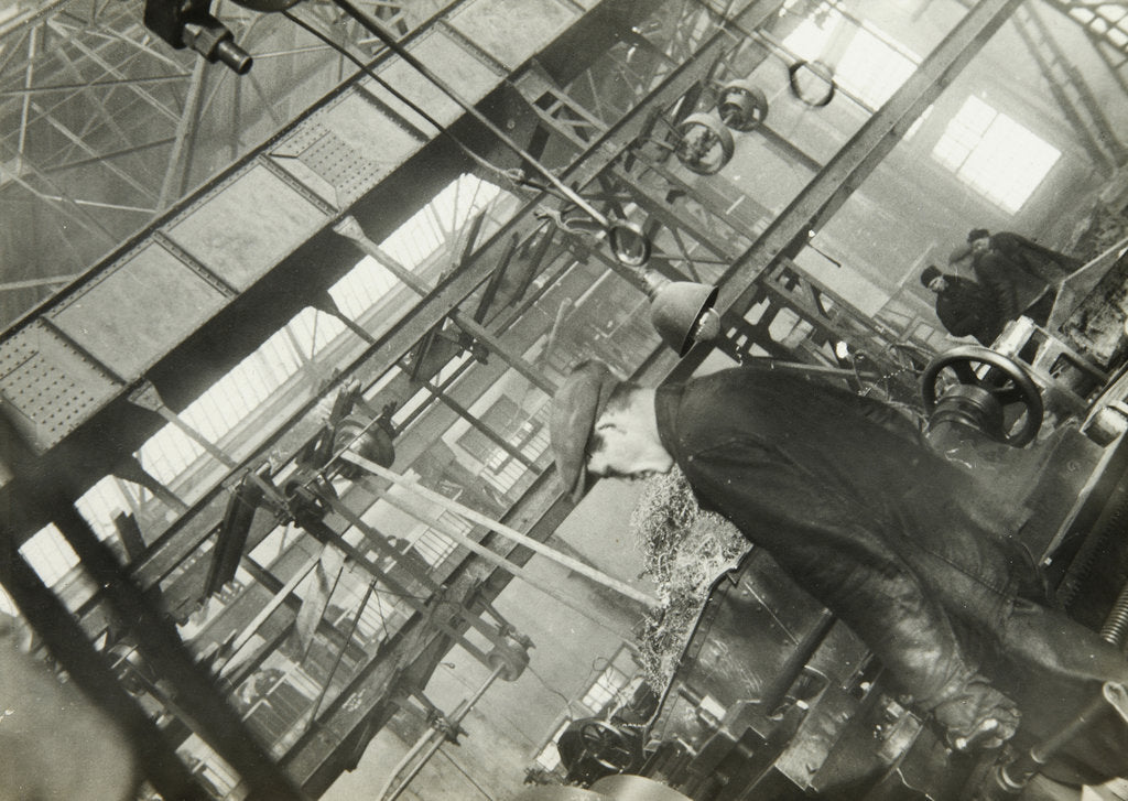 Detail of In a mechanical engineering factory, USSR, 1930s by Unknown