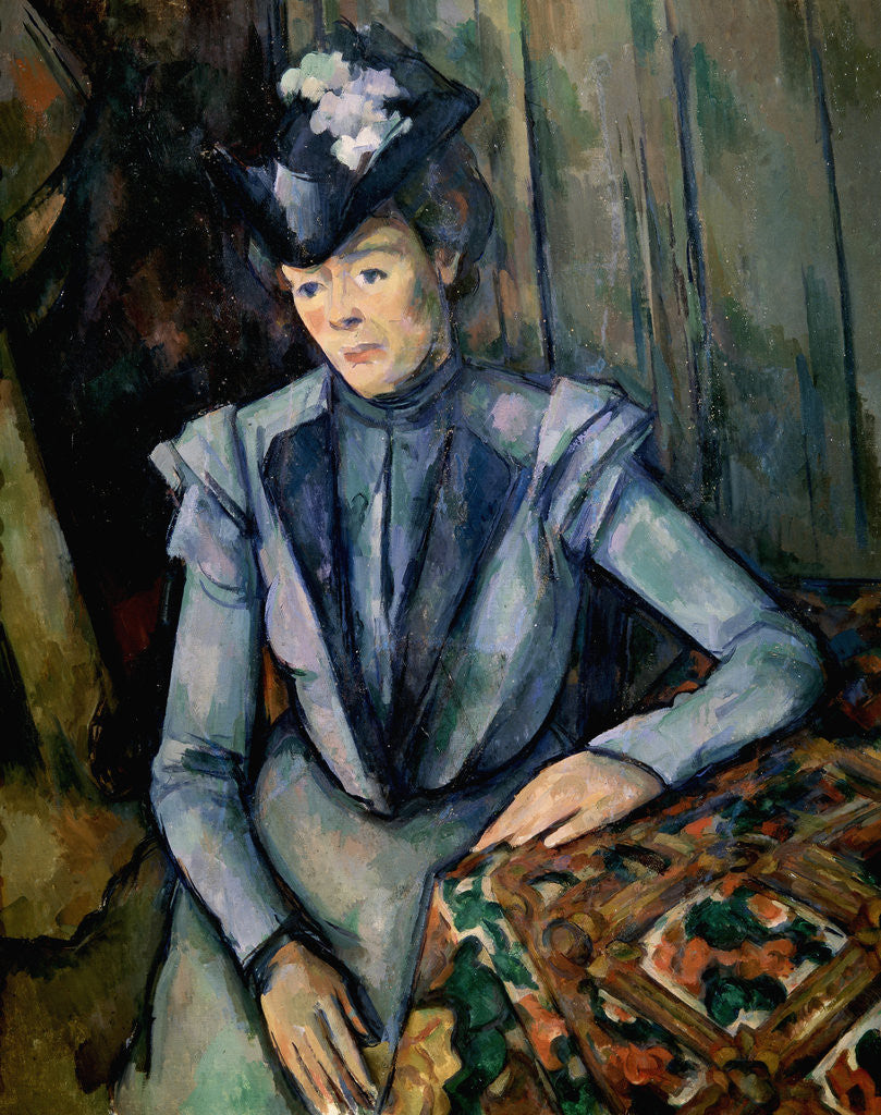 Detail of Lady in Blue (Madame Cézanne) by Paul Cezanne