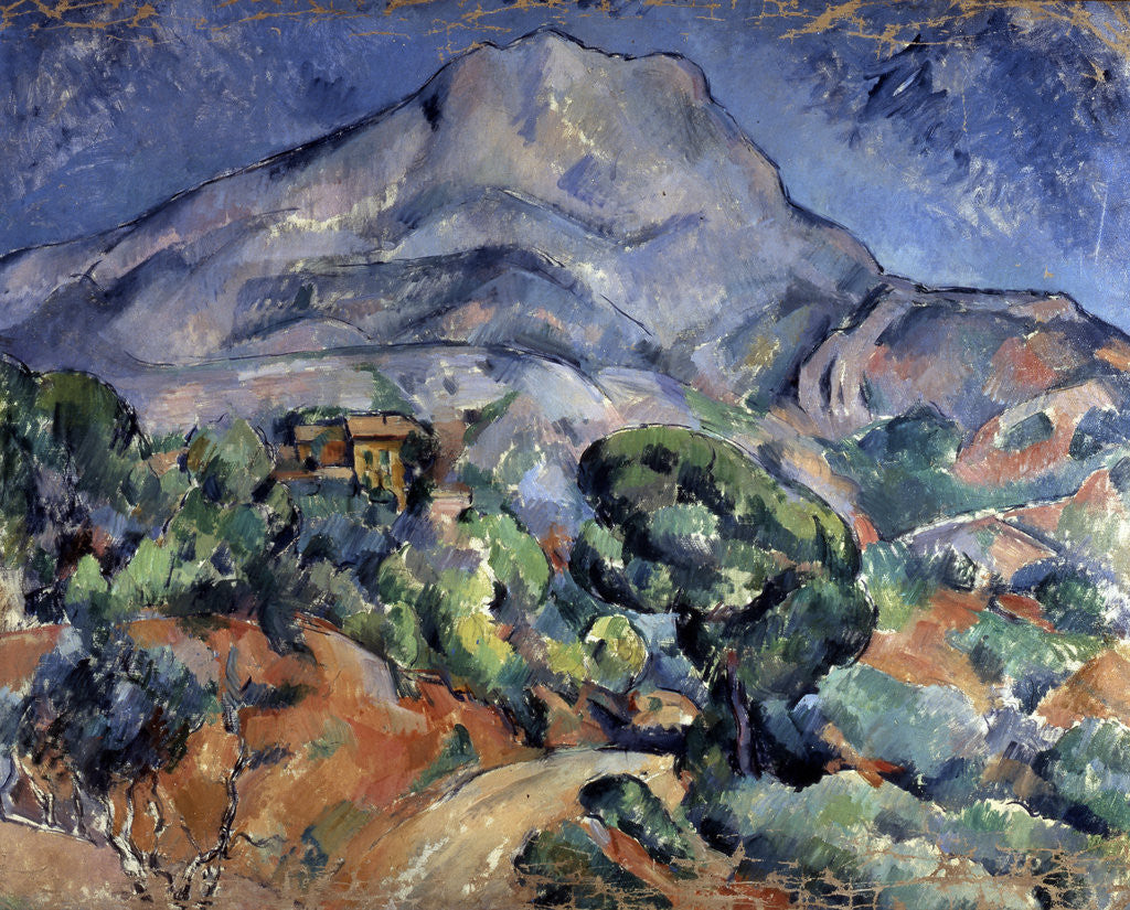 Detail of Mont Sainte-Victoire by Paul Cezanne