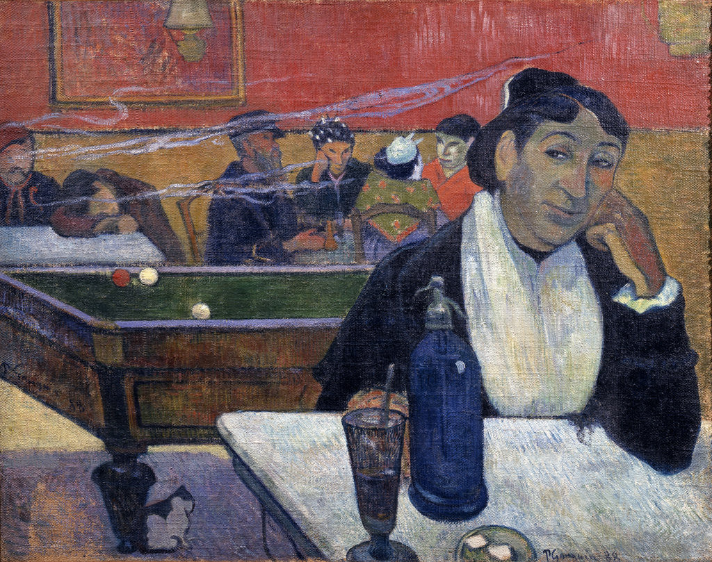 Detail of Night Café at Arles by Paul Gauguin