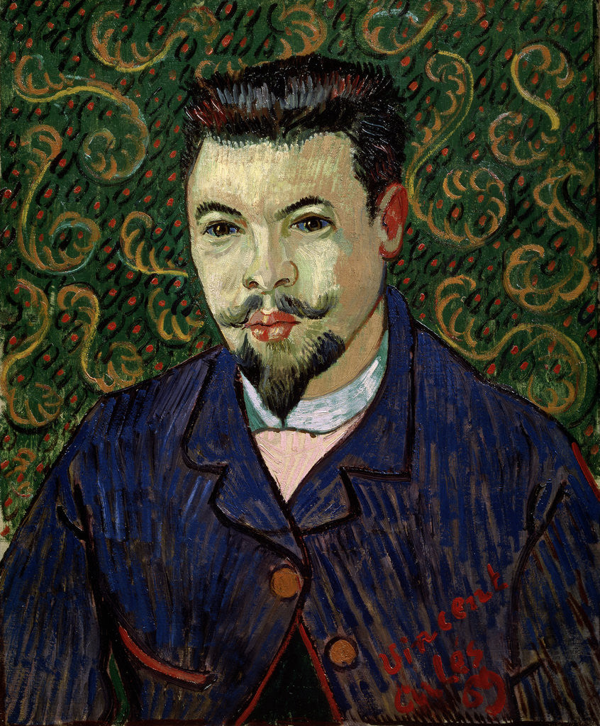 Detail of Portrait of Doctor Felix Rey by Vincent Van Gogh