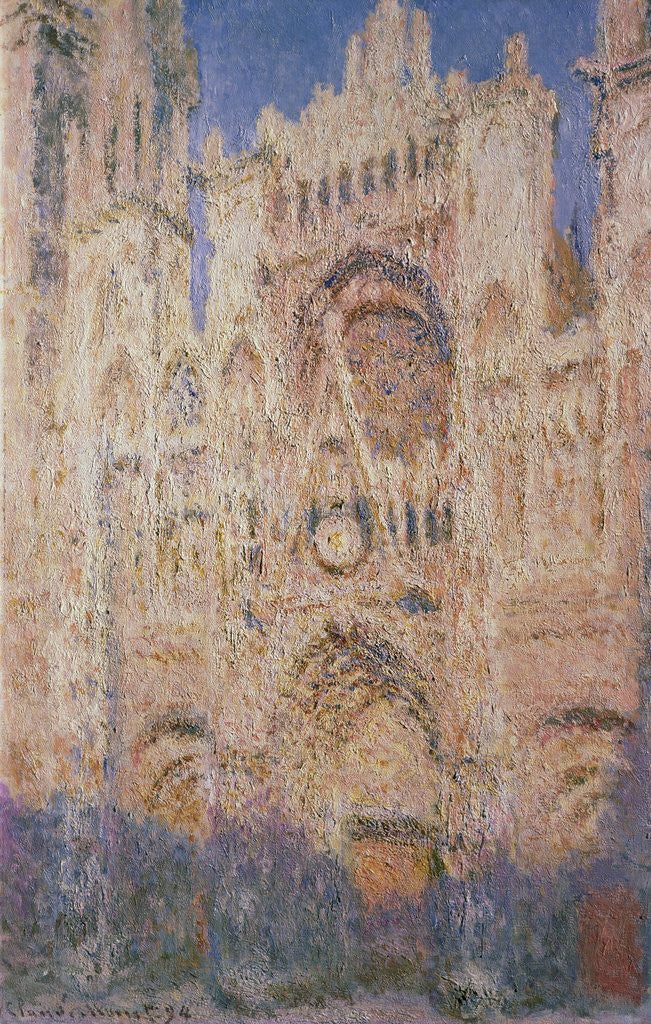 Detail of Rouen Cathedral at Sunset by Claude Monet