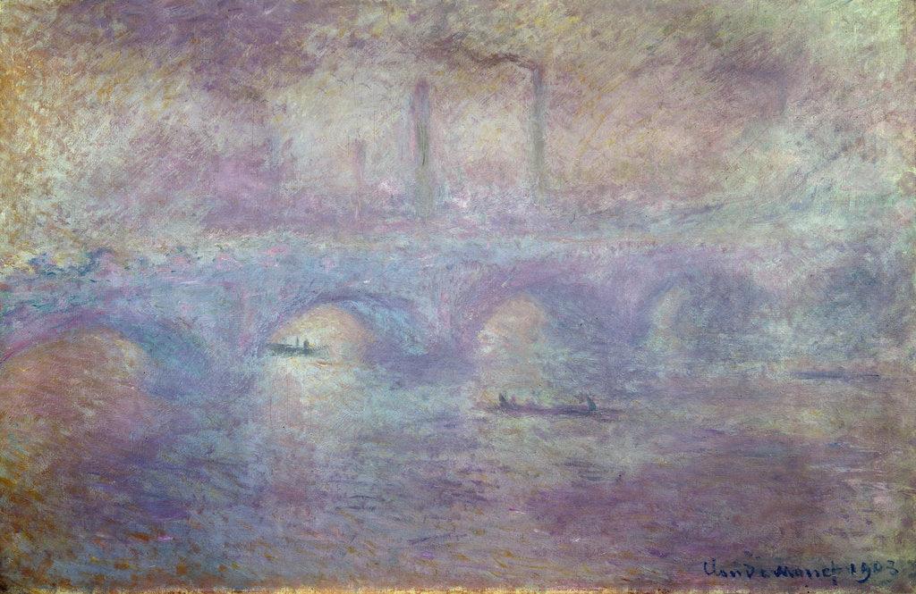 Detail of The Waterloo Bridge, Fog Effect, 1903 by Claude Monet
