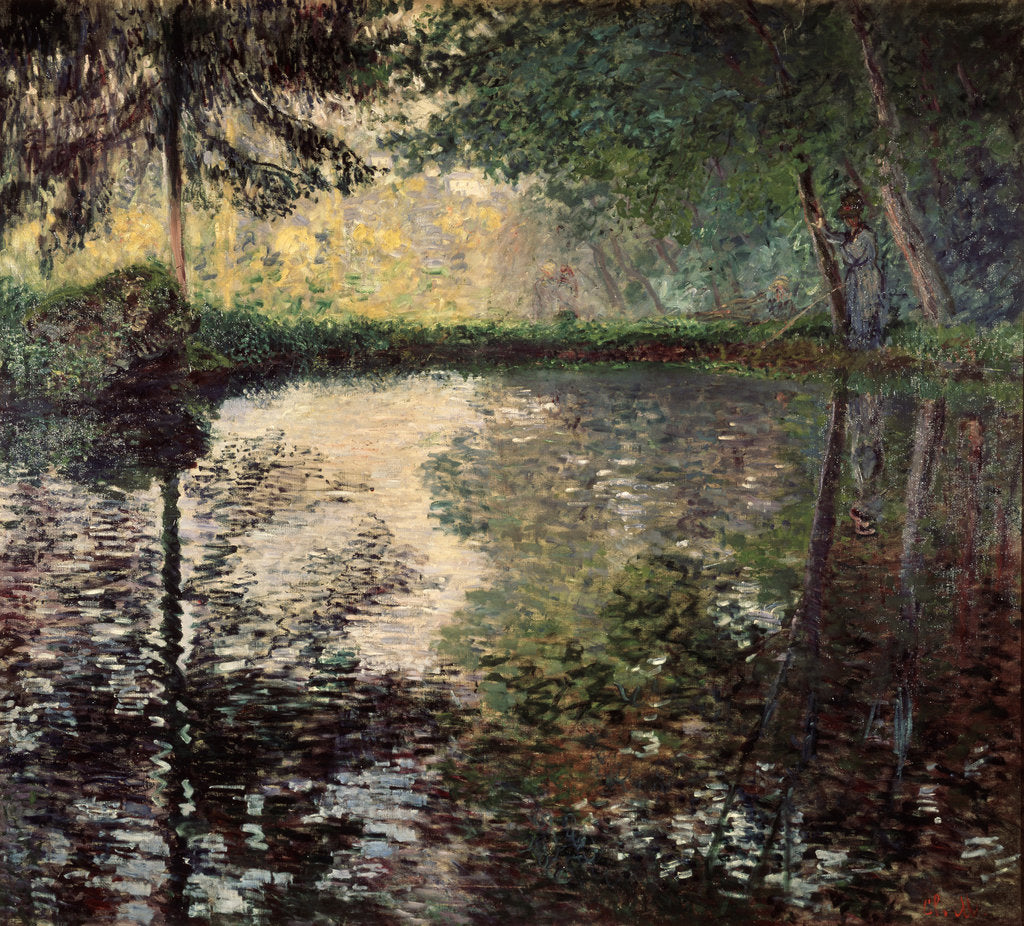 Detail of Pond at Montgeron, c1876. by Claude Monet