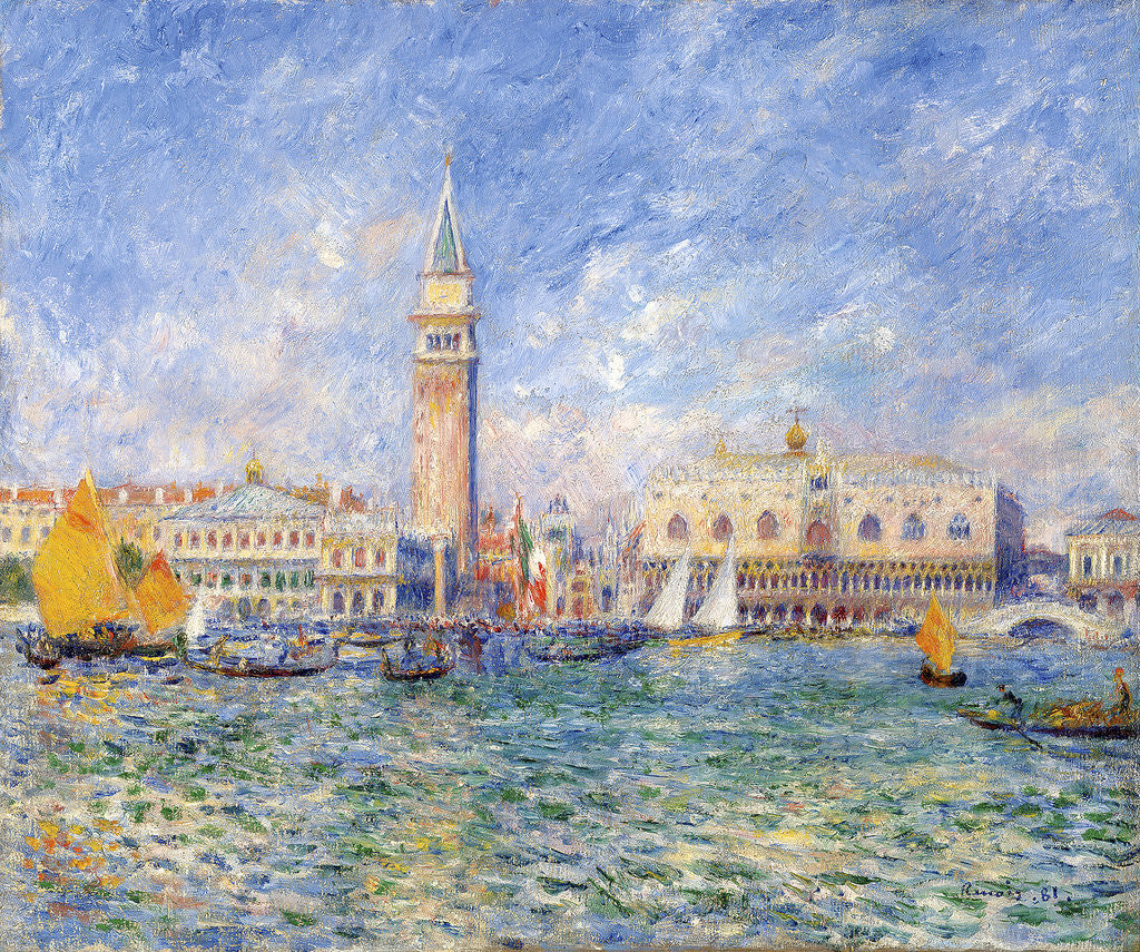 Detail of Venice, (The Doge's Palace) by Pierre-Auguste Renoir