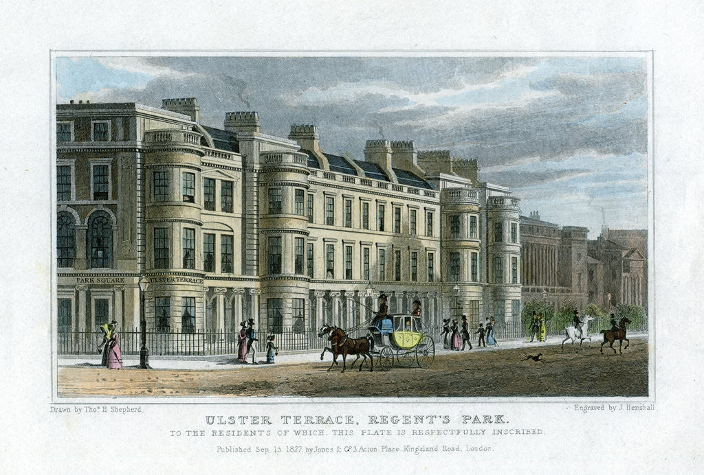 Ulster Terrace, Regent's Park, London by J Henshall