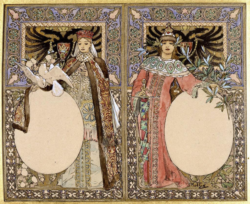 Detail of Book illustration by Alphonse Mucha