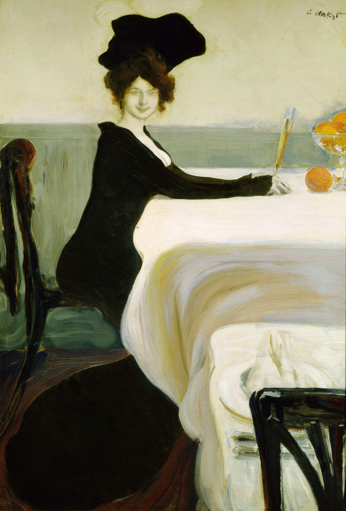 Detail of Dinner by Leon Bakst