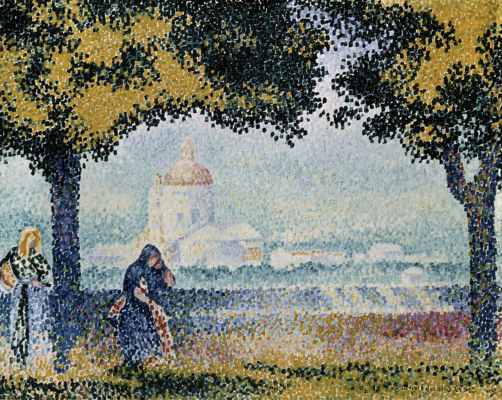 Detail of The Church of Santa Maria degli Angeli near Assisi by Henri Edmond Cross