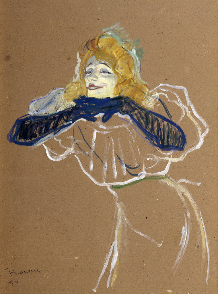Detail of The Singer Yvette Guilbert by Henri de Toulouse-Lautrec