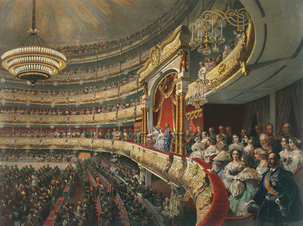 Detail of Auditorium of the Bolshoi Theatre, Moscow, Russia by Mihaly Zichy