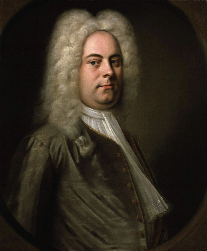 Detail of George Frideric Handel, German composer by Balthasar Denner