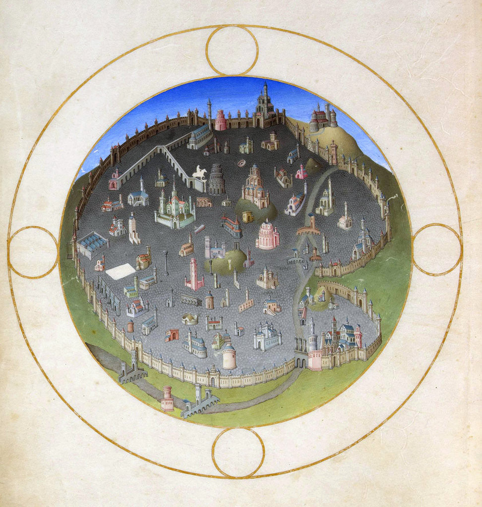 Detail of A plan of Rome by Hermann Limbourg