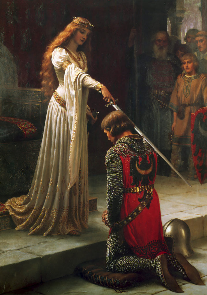 Detail of The Accolade by Edmund Blair Leighton