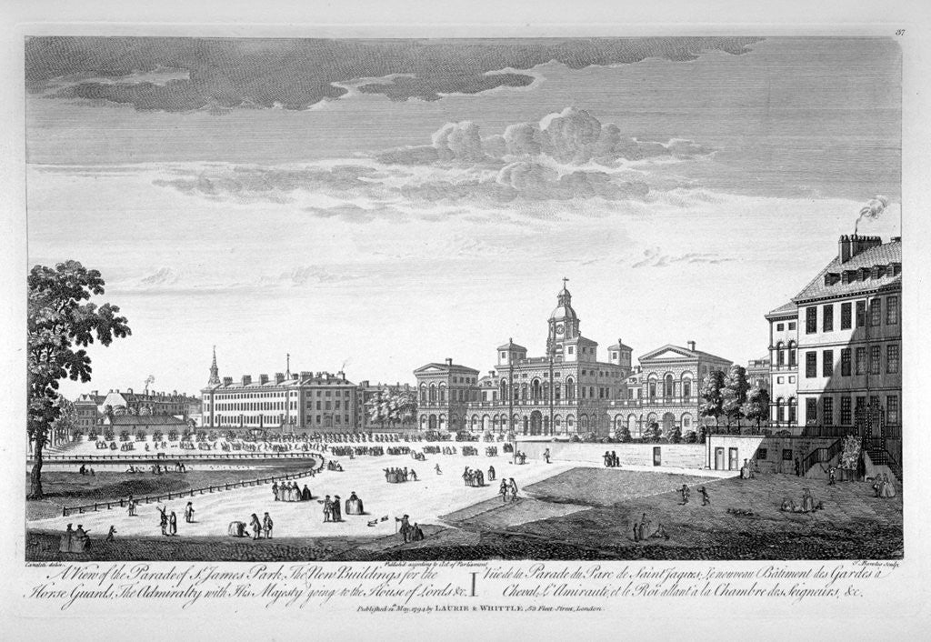 Detail of Horse Guards Parade from the south-west, Westminster, London by Thomas Bowles