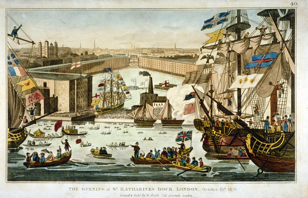 Detail of Opening of St Katharine's Dock, London, October 25 1828 by