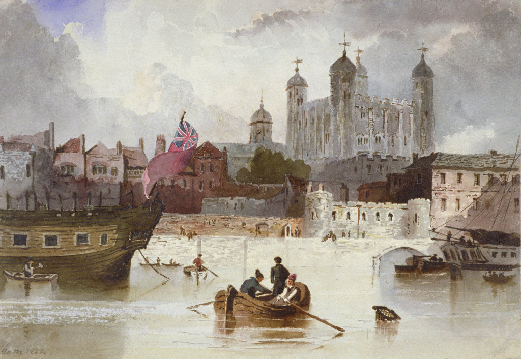 Detail of Tower of London by