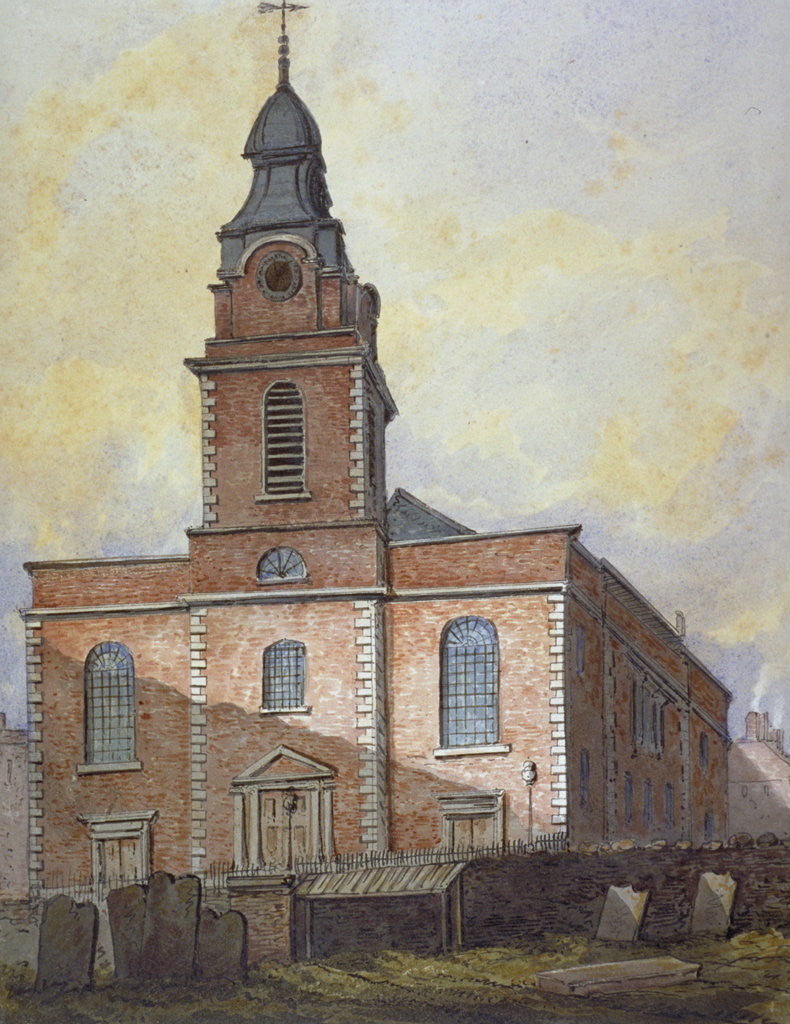Detail of Church of St John-at-Wapping, London by William Pearson