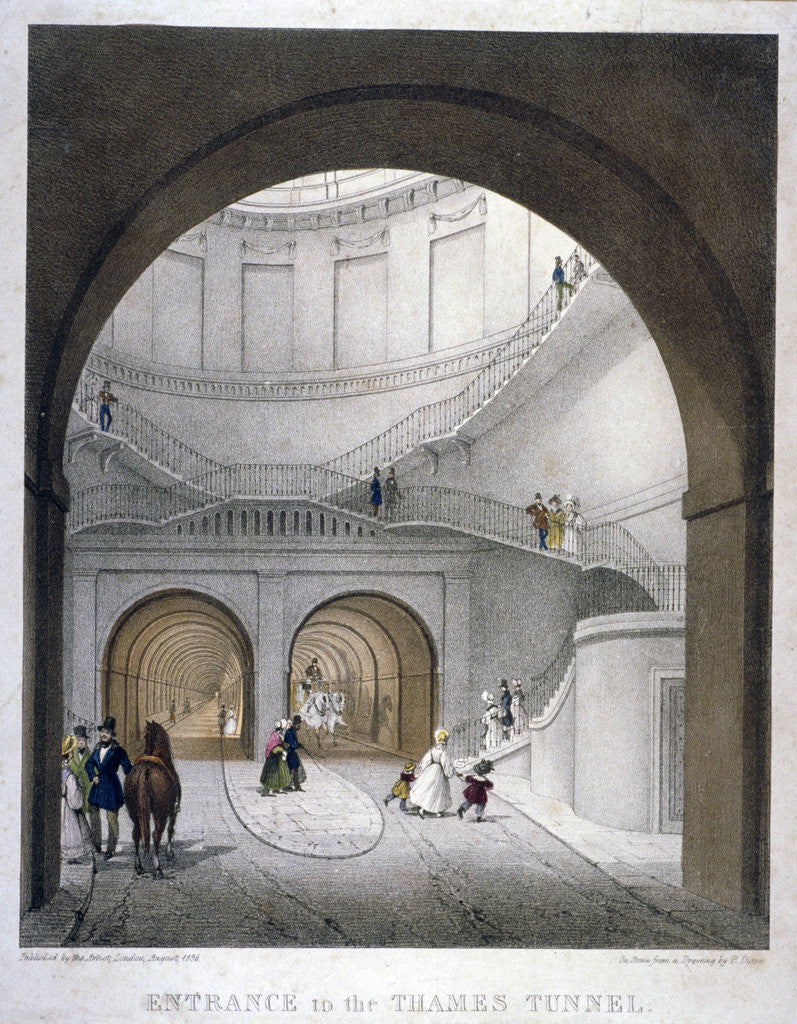 Detail of Entrance to the Thames Tunnel at Wapping, London by Anonymous