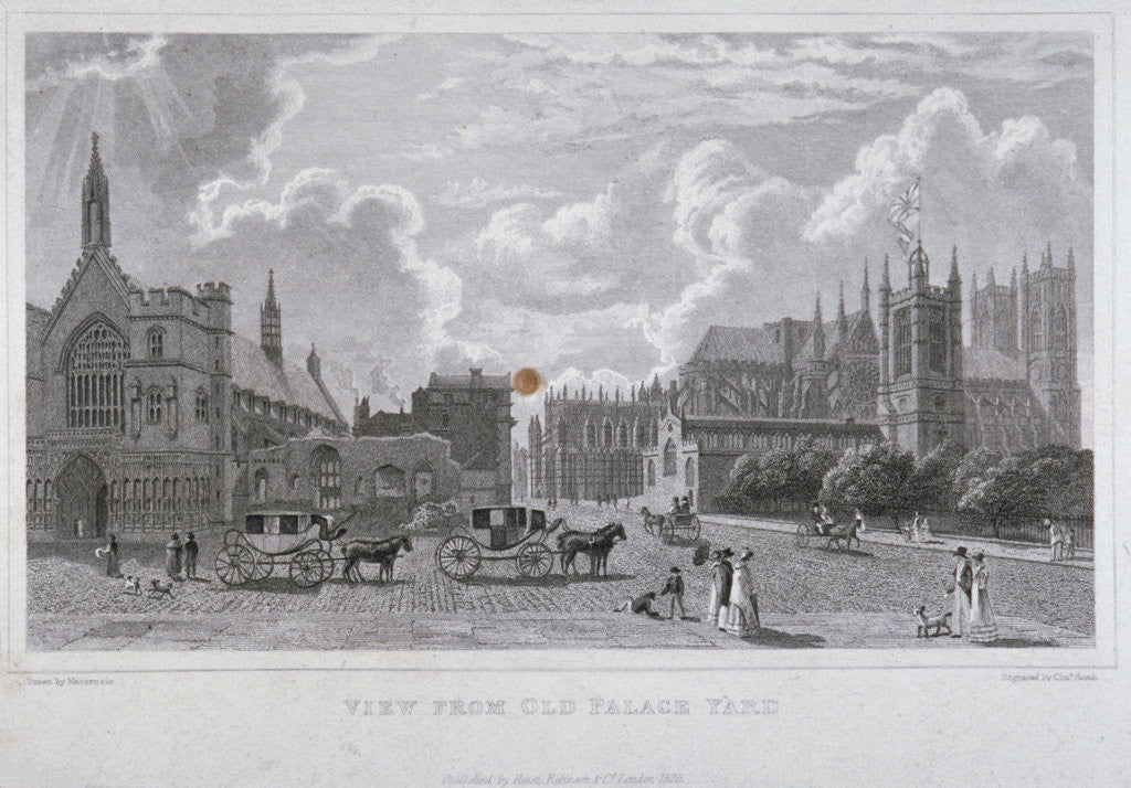 Detail of View from Old Palace Yard, Westminster, London by