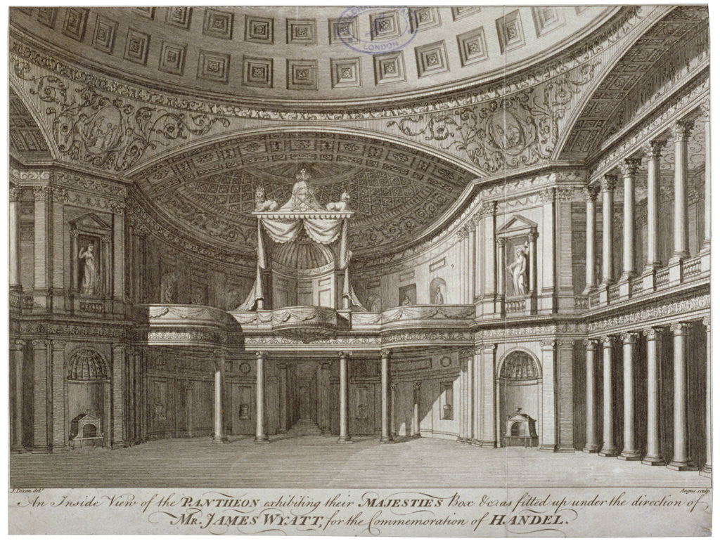 Detail of Interior of the Pantheon, Oxford Street, Westminster, London by William Angus