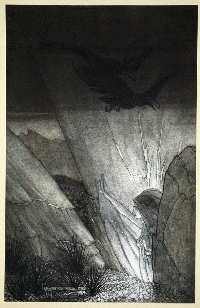 Detail of Erda bids thee beware by Arthur Rackham
