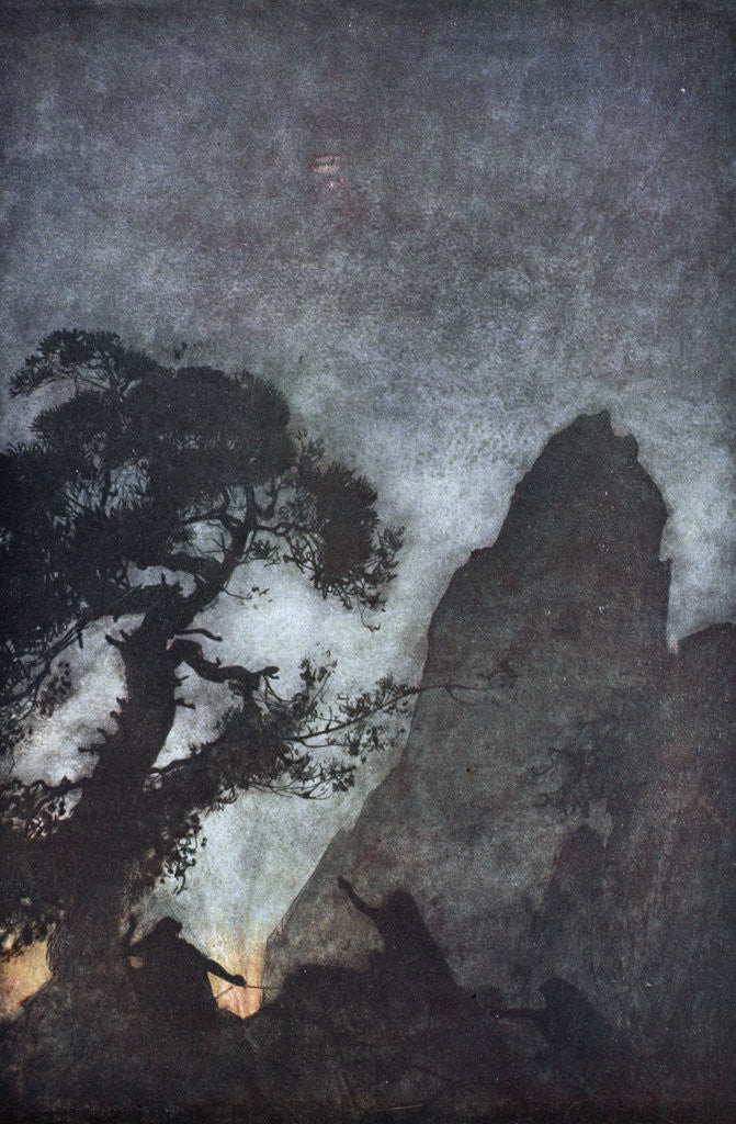 Detail of The three Norns by Arthur Rackham