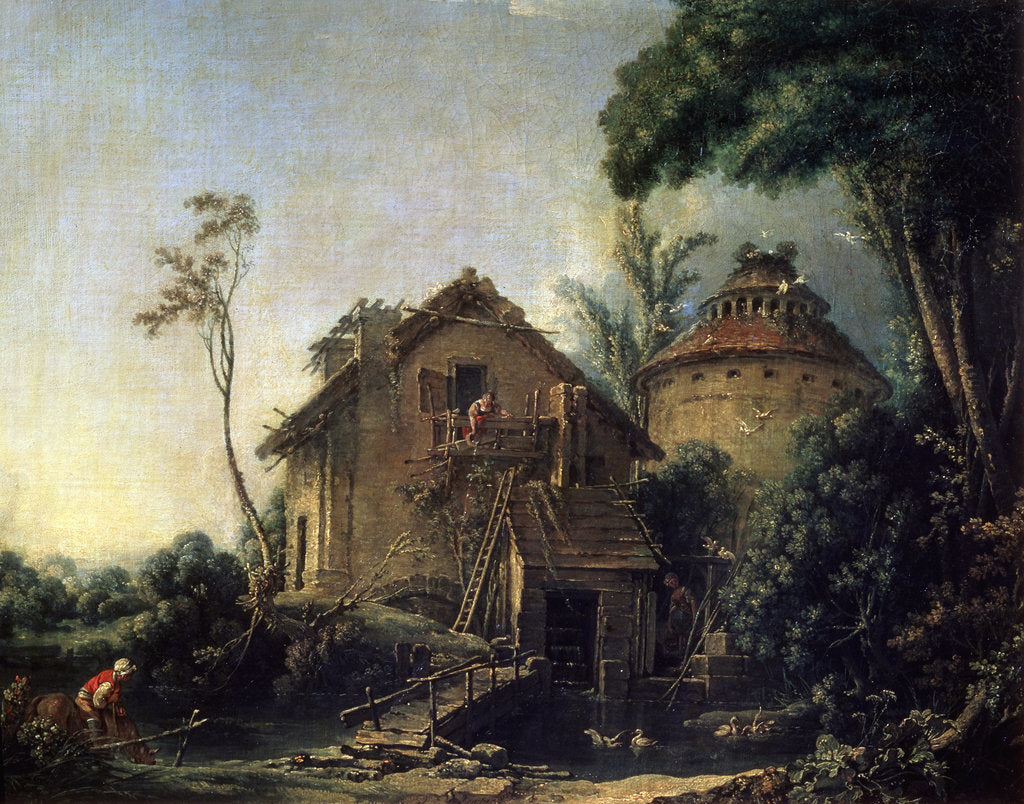 Detail of The Windmill, 1752. by François Boucher