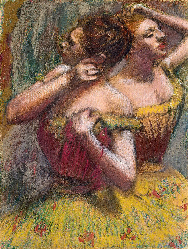 Detail of Two Dancers by Edgar Degas