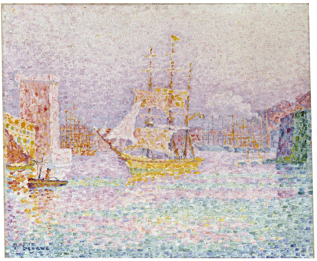 Detail of The Harbour at Marseilles by Paul Signac