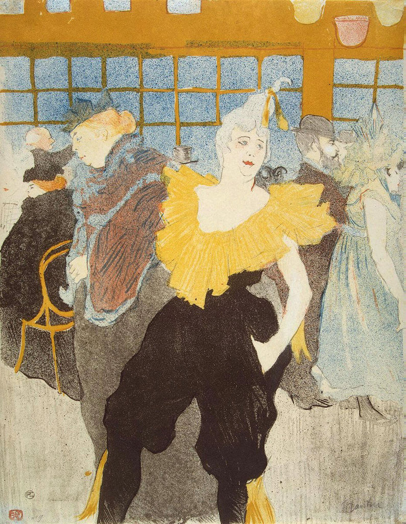 Detail of La Clownesse in the Moulin Rouge by Henri de Toulouse-Lautrec