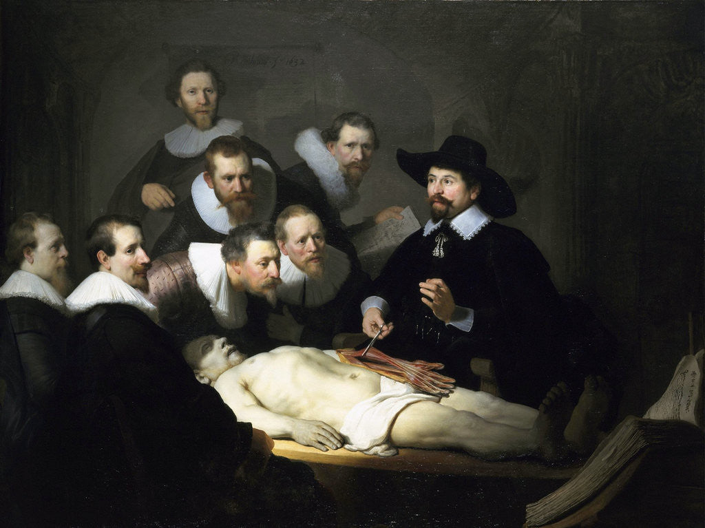 The Anatomy Lesson of Dr Nicolaes Tulp by Rembrandt (Rembrandt van Rijn)