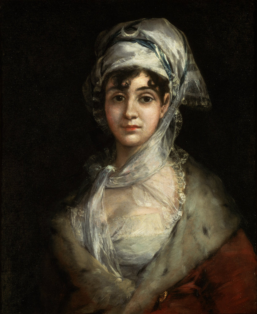 Detail of Portrait of the Actress Antonia Zárate by Francisco Goya