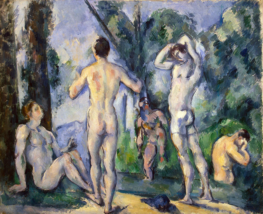 Detail of Bathers by Paul Cezanne