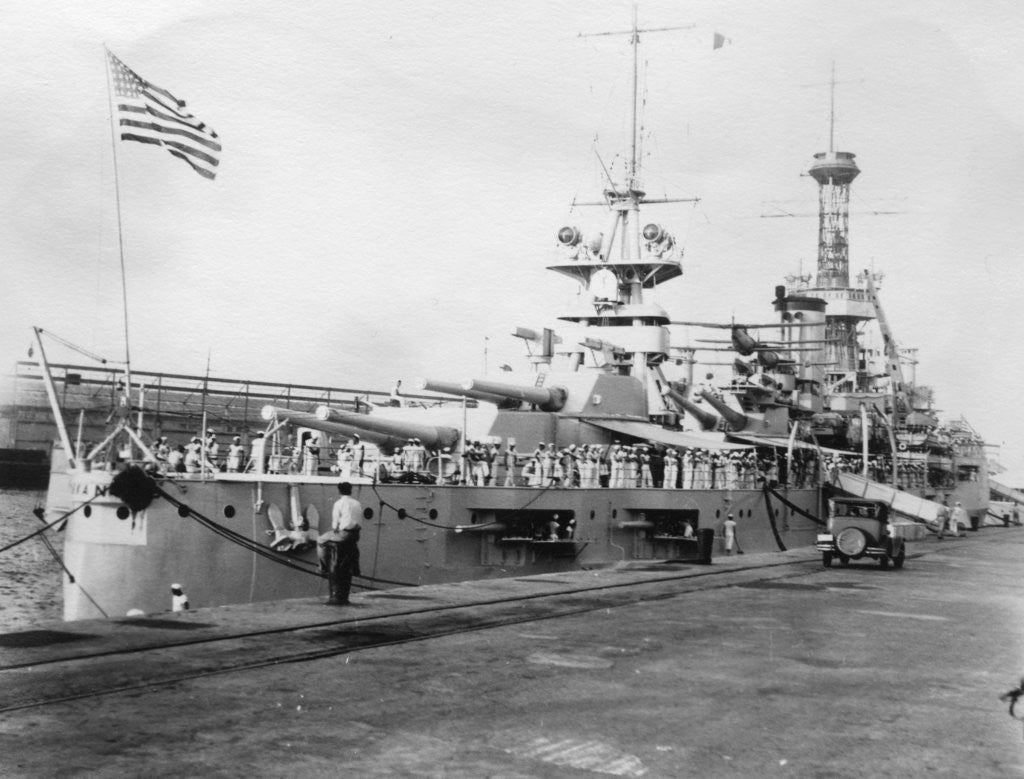 US Navy warships, Navy yard, Balboa, Panama by Anonymous