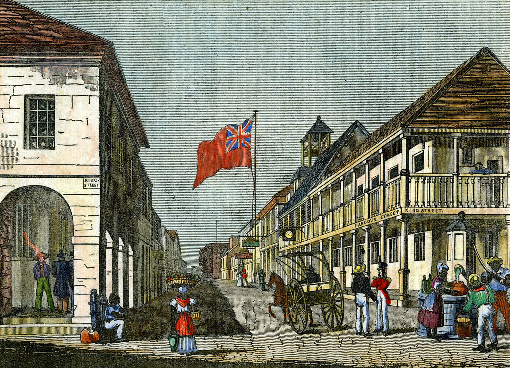 Detail of Junction of Harbour Street and King Street, Kingston, Jamaica by Anonymous