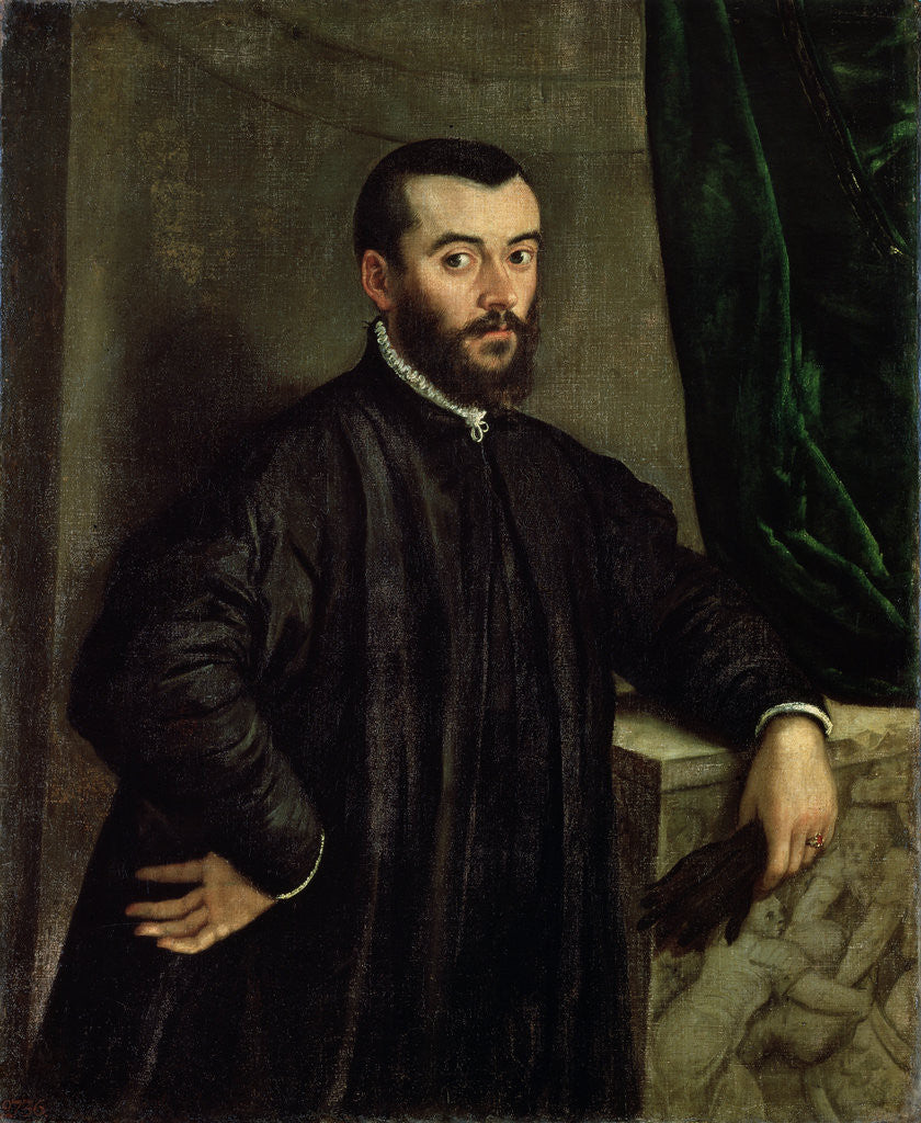 Detail of Portrait of the physician Andreas Vesalius by Steven van Calcar