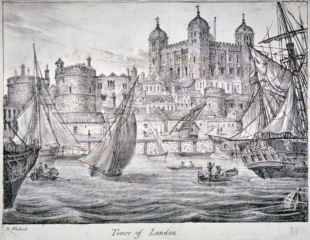 Detail of Tower of London by Anonymous