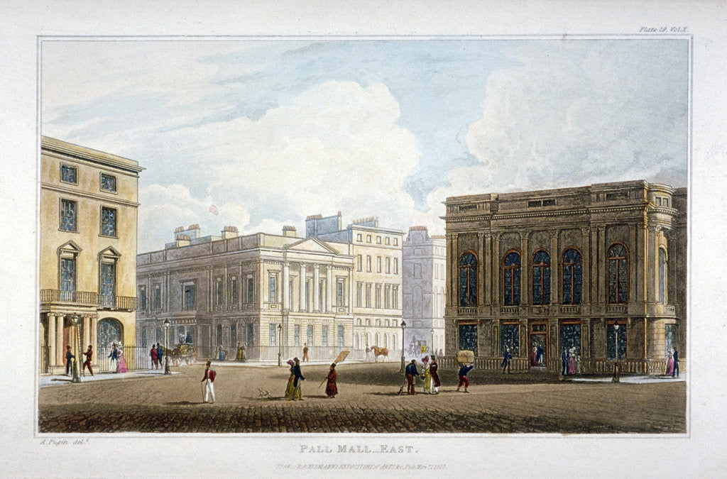 Detail of View of Pall Mall East, Westminster, London by Anonymous