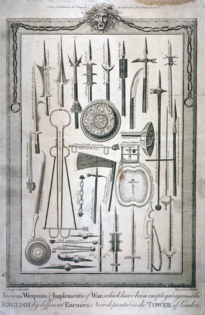 Detail of Weapons kept at the Tower of London by G Walker