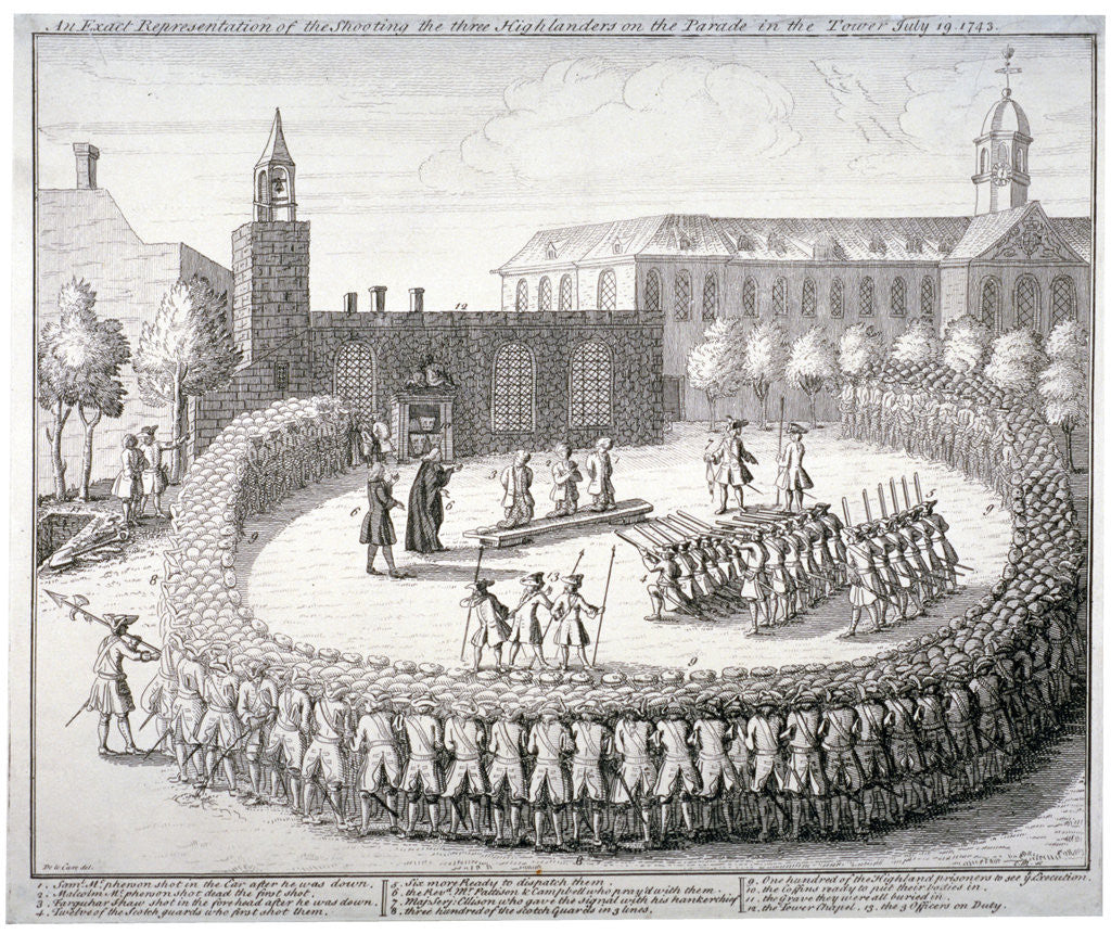 Detail of Execution at the Tower of London by CM