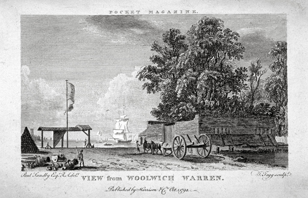 Detail of View from Woolwich Warren, Kent by Thomas Tagg