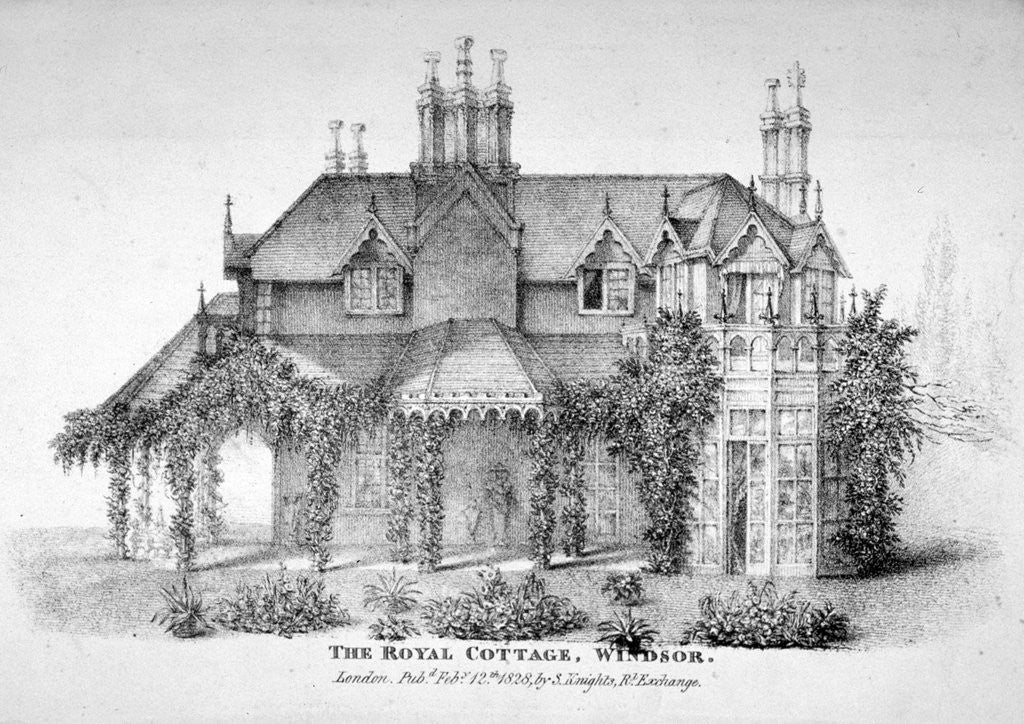 Detail of The Royal Cottage, Windsor, Berkshire by Anonymous