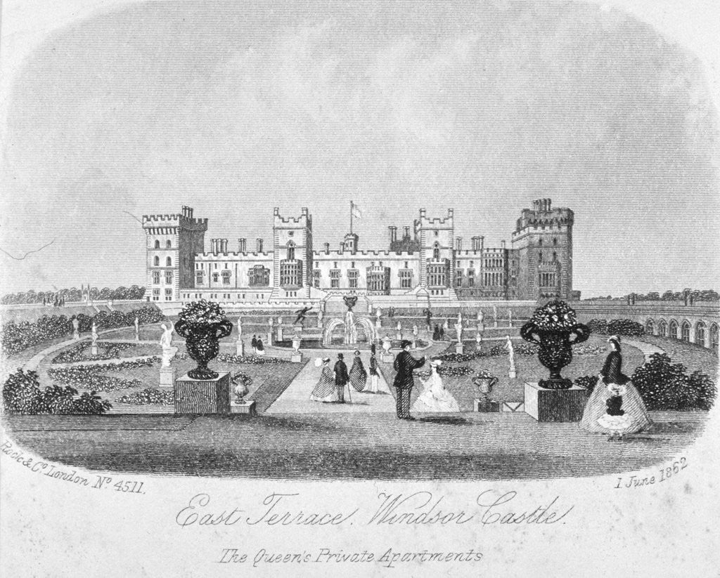 Detail of East terrace of Windsor Castle, Berkshire by Anonymous
